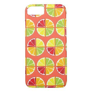 Four citrus fruits pattern iPhone 7 case