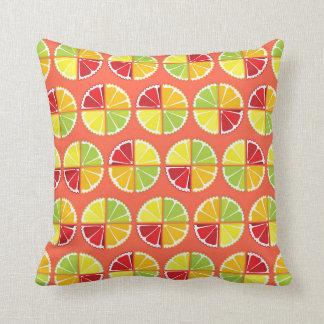 Four citrus fruits pattern pillow