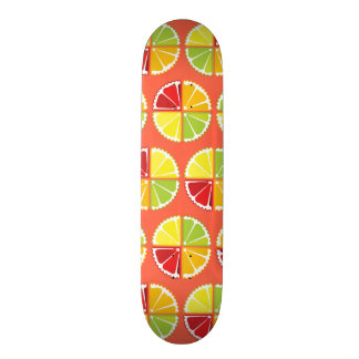 Four citrus fruits pattern skateboard