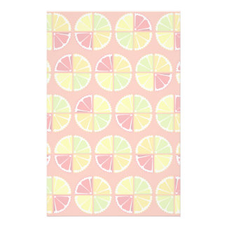 Four citrus fruits pattern personalized stationery