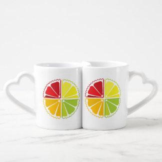 Four citrus fruits lovers mug