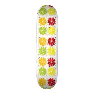 Four citrus fruits skate board decks