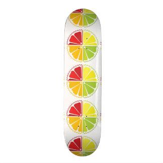 Four citrus fruits skateboard decks