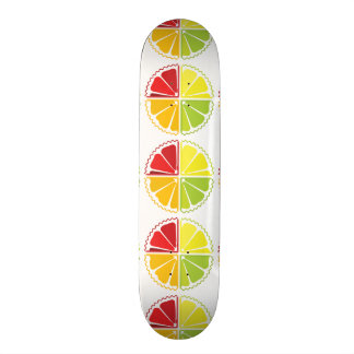 Four citrus fruits skateboard deck
