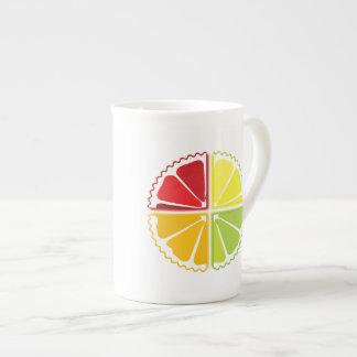 Four citrus fruits porcelain mug