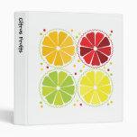 Four citrus fruits vinyl binder