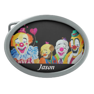 Four Clowns Buckle Oval Belt Buckle
