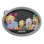 Four Clowns Buckle Oval Belt Buckles