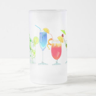 Four Cocktails Frosted Glass Beer Mug
