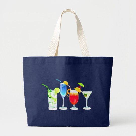 Four Cocktails Large Tote Bag