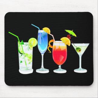 Four Cocktails Mouse Pad