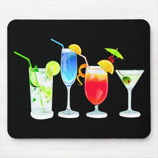 Four Cocktails Mouse Pad
