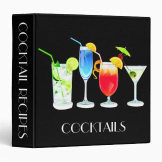 Four Cocktails on Black Binder