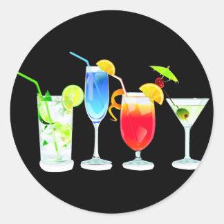 Four Cocktails Sticker