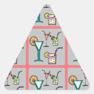 Four Cocktails Triangle Sticker