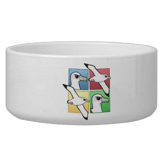 Four Color Albatross Pet Food Bowl