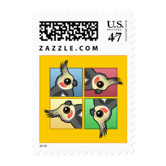 Four Color Cockatiel Postage