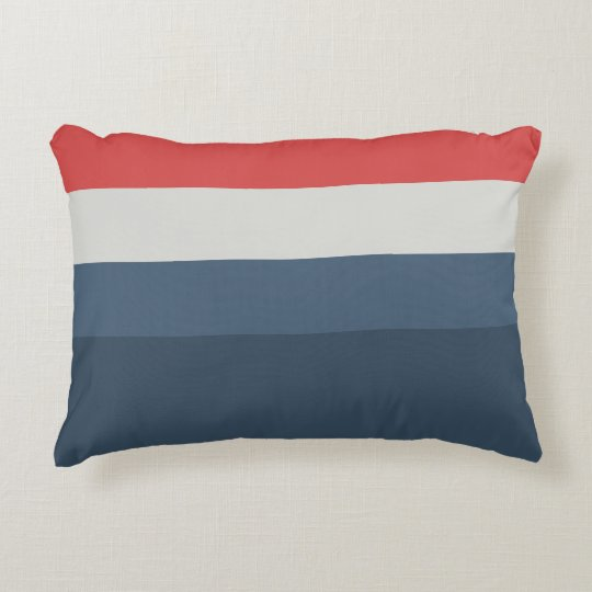 Four Color Combo Red Gray Blue Dark Blue Decorative Pillow Enchanting Dark Blue Decorative Pillows