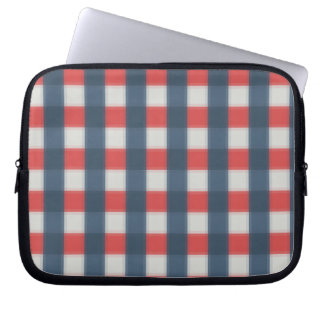 Four Color Combo - Red Gray White Blue Dark Blue Computer Sleeve