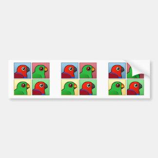 Four Color Eclectus Bumper Sticker