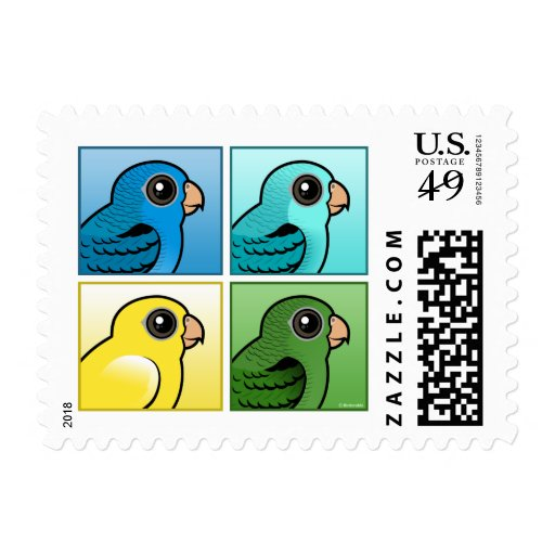 Four Color Linnies Postage Stamps