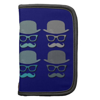 Four Color Mustache, Glasses and Derby Hat Planner