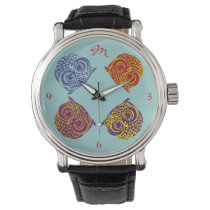 four color owls addname watch