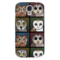 Four Color Owls (dark) Galaxy S4 Cover