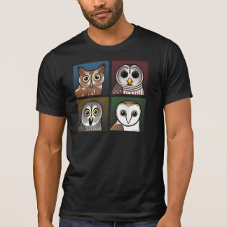 Four Color Owls (dark) T Shirt