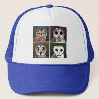 Four Color Owls (dark) Trucker Hat