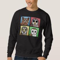 Four Color Owls (pastel) Sweatshirt