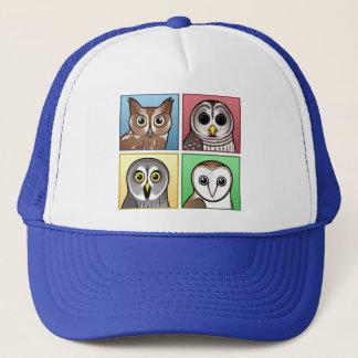 Four Color Owls (pastel) Trucker Hat