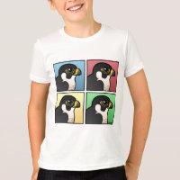 Four Color Peregrine Falcon Kids' American Apparel Fine Jersey T-Shirt
