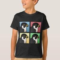 Four Color Peregrine Falcon Kids' Hanes TAGLESS® T-Shirt