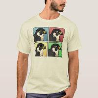 Four Color Peregrine Falcon Men's Basic T-Shirt