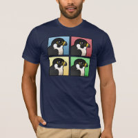 Four Color Peregrine Falcon Men's Basic American Apparel T-Shirt