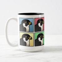 Four Color Peregrine Falcon Two-Tone Mug