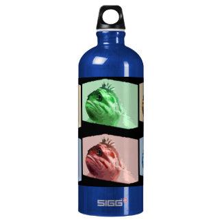 Four Color Pop Art Fish Aluminum Water Bottle