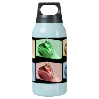 Four Color Pop Art Fish 10 Oz Insulated SIGG Thermos Water Bottle