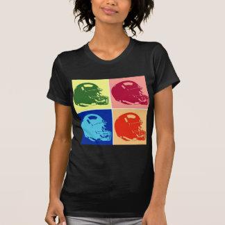 Four Color Pop Art Football Helmet Tshirts