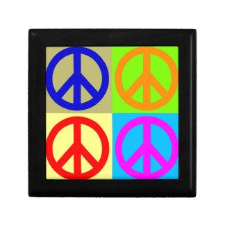 Four Color Pop Art Peace Sign Gift Boxes
