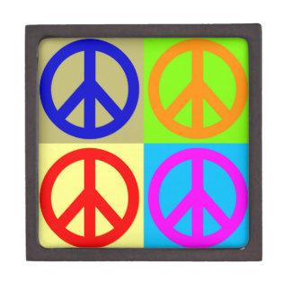 Four Color Pop Art Peace Sign Premium Gift Boxes