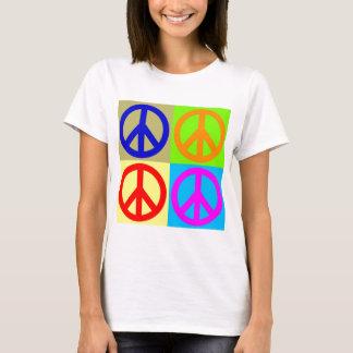 Four Color Pop Art Peace Sign T-Shirt