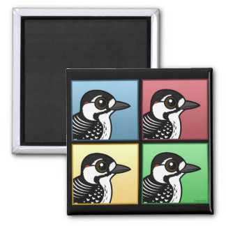 Four Color Red-cockaded Woodpecker Magnet