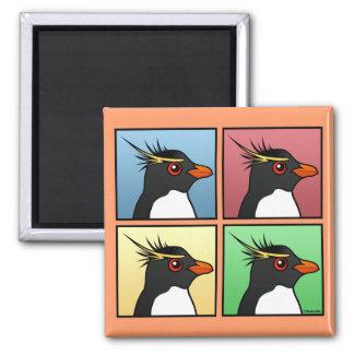 Four Color Rockhopper 2 Inch Square Magnet