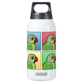 Four Color Rose-ringed Parakeet 10 Oz Insulated SIGG Thermos Water Bottle