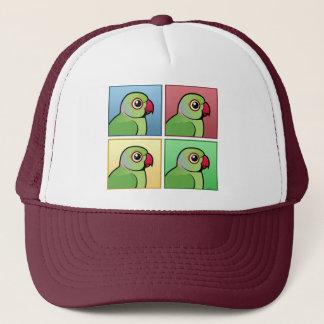 Four Color Rose-ringed Parakeet Trucker Hat