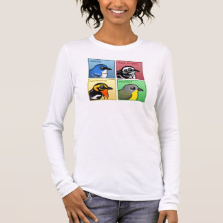 Four Color Warblers Long Sleeve T-Shirt