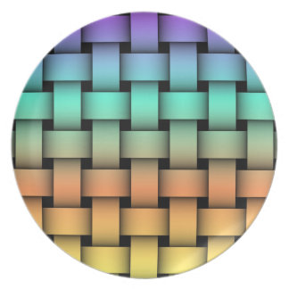 Four-Color Weave Pattern Plate