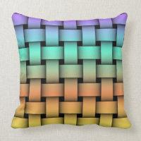 Four-Color Weave Pattern Throw Pillow